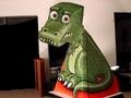 【動画】こっち見つめ続ける恐竜!? これは不思議だ…びっくり錯視動画!