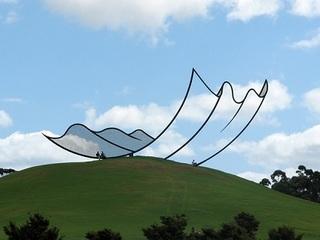 """【な、なんだこれは~!?  2次元と3次元を融合した、構造不明の""""大空アート"""""""
