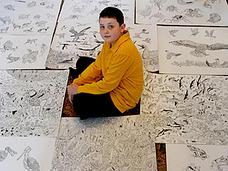11歳の天才少年・動物画家が話題! 動物百科事典、3週間で丸暗記!!