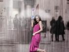 傘が劇的に進化! 見えない傘、その名も「空気傘」が製品化目前!!