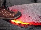 【動画】もしも、溶岩の上を歩いたら…? 意外な展開に恐怖を再認識させられる映像!