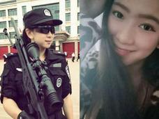 """「俺を捕まえに来てくれ!」中国・美人すぎる""""エキゾチック""""特殊警察に、ネット民熱狂中"""