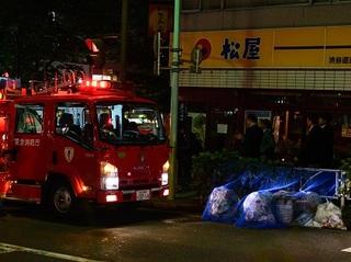 渋谷区一角で大停電が発生!  道が真っ暗、警察・消防隊も出動、その時『松屋』は…?