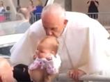 【奇跡】ローマ教皇フランシスコの祝福の接吻で幼女の脳腫瘍がみるみる縮小、MRI検査で判明!