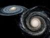 【動画】銀河同士が衝突すると何が起きるのか? アンドロメダと天の川が予想外の動きをして…!