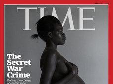 TIME誌の表紙グラビアがまた物議! レイプされHIVに感染した黒人女性のヌードを表紙に