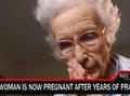 85歳の老婆が奇跡の自然妊娠!? 1日14時間祈って22歳と性行為の果てに
