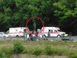 事故現場で「人間の魂が抜け出る瞬間」が激写される! 真っ白い「人の形」がクッキリ!