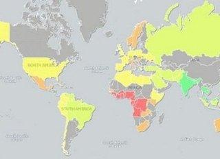 """【勃起時のペニスの大きさで世界地図を作ってみたら…!! 日本は意外にも""""アノ国""""と同じサイズ"""