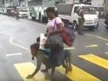 """【閲覧注意】半獣人か、退行進化か!? 街を""""四足歩行する""""男の衝撃的姿と2つの可能性"""