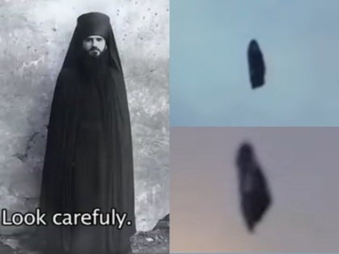 【衝撃動画】空を浮遊する謎の「修道士」が激撮される! 回転しながら移動… 目的・正体いっさい不明=ロシア