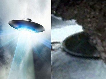 南極の凍った湖に停泊する円盤型UFO(直径34m)が激撮される! エイリアンの基地か、ナチス・ドイツの極秘施設か!?