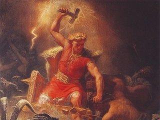 致死率99.999%! 神すら容易に扱えない北欧神話最強武器「ミョルニル」と雷神「トール」の真相!