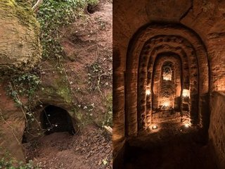 【衝撃】「ウサギの穴」を抜けたら、謎の巨大神殿が広がっていた! 超神秘的空間が公開される!=イギリス