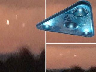 """朝焼けの空に出現した""""トライアングル・フォーメーション""""UFOが謎すぎる! 飛行機では説明不能、調査機関もお手上げ=米"""