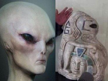 """古代マヤ文明はエイリアンに支配されていた!? 1600年前の""""グレイ・タイプ""""の像が発掘され動揺広がる=メキシコ"""