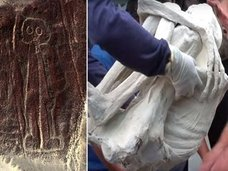【動画】全身真っ白の「3本指のミイラ」が複数発見される! 医師「人間とは異なる1600年前のヒト型生物」DNA検査へ=ナスカ