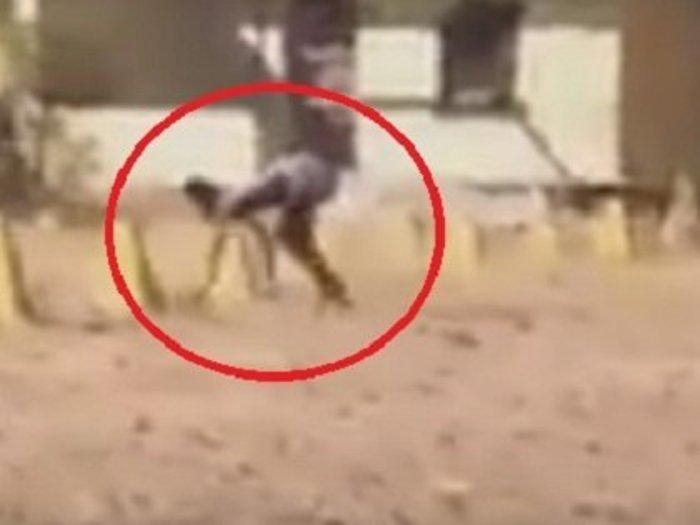 【衝撃動画】半分が犬、半分が人間のバケモノが激撮される! 全裸で爆走、獣姦による交配種か!?
