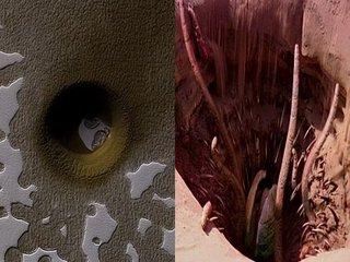 火星で「カークーンの大穴」そっくりの謎の巨大穴をNASAが激写! 科学者も困惑、巨大生物の巣か?