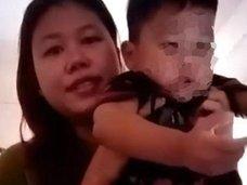 【閲覧注意】子どもの殺害未遂を実演する鬼畜母の超・胸クソ映像!! 浮気夫にブチ切れた女、ヤバすぎる凶行の一部始終=タイ