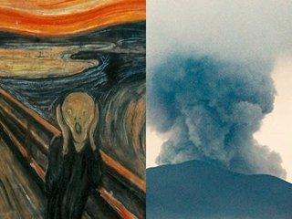 """【緊急警告】バリ「アグン山」の噴火は世界の空を""""不気味な色""""に変える! 学者が断言、噴煙高さ1万m超えで全人類が「ムンクの叫び」状態に(現在9000m)!"""