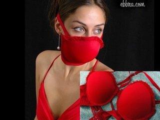 【ガチ】放射能汚染など緊急事態の際は、ブラジャーをはずしてガスマスクがわりにせよ! 発明した科学者がブラジャーで熱演!