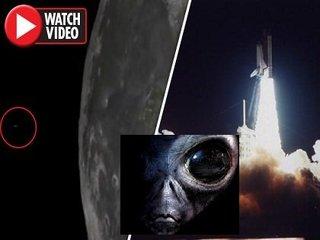 """【衝撃映像】月の穴から""""意味深なUFO""""が飛び出す瞬間がヤバい!「人類から月を守る」宇宙人基地が存在か!?"""
