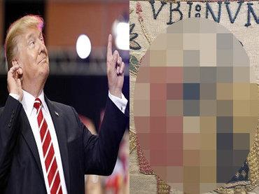 【衝撃】トランプ大統領が描かれた1000年前の刺繍画発見、タイムトラベラー説浮上! 金髪とポーズが完全一致、隣にプーチンの姿も!