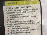 マレーシア大手紙の「ゲイ・ビアンのチェックリスト」が世界で炎上中! 髭面で腹筋アピールはゲイ、男をけなす女はビアン…など