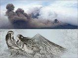 """【完全本物】世界中で超話題の奇跡! 噴火したフィリピン「マヨン山」の煙の形が""""悲恋伝説の男女""""にソックリ!"""