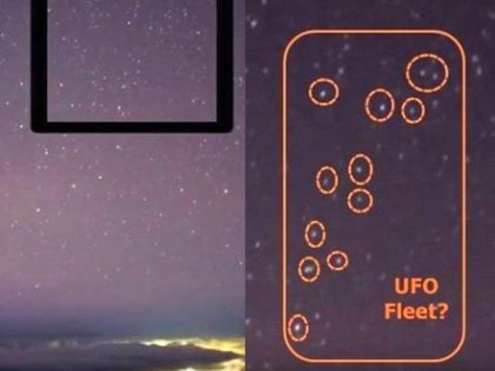 """【衝撃映像】UFOが星に化けている決定的証拠がついに暴露される! 天文台が撮影した満天の星空に""""UFO編隊""""がクッキリ!"""