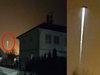 """【衝撃映像】深夜の住宅街で""""ビームを出すUFO""""が激撮される! 街灯に擬態か、アブダクションの最中か!?=スウェーデン"""