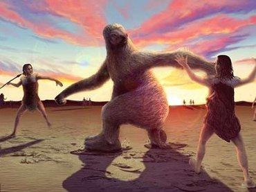古代人は二足歩行の超巨大ナマケモノ(3m)と死闘を繰り広げていたことが化石でガチ判明! 体重は700キロまるでモンスター!