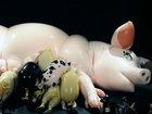 ラバー素材で家畜、と畜、出産を再現!! ラバー美術家サエボーグを取材、5月5日深夜の「大ゴム祭」アングラ巨大イベントに新作登場!