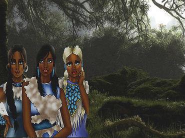 """""""月の眼""""を持つ幻の部族「ムーンアイドピープル」の謎 ― 真っ白な肌と髪、大きな青い目… アルビノ族か、エイリアンか!?"""