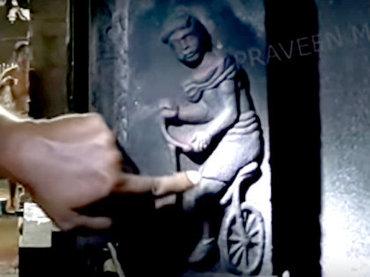 「自転車は2千年前からインドに存在」古代寺院の彫刻で発覚! チャリに乗る男くっきり…地味にヤバいオーパーツ!