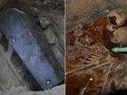 開封された古代エジプト「黒い石棺」が謎すぎて眠れなくなるレベル! 3体の小さな遺骨、汚水、呪い… ミステリーまとめ