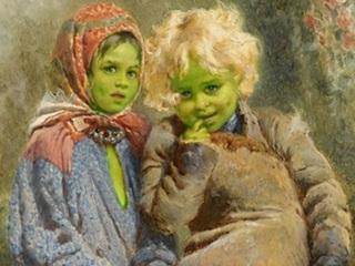 """12世紀イギリスの昔話「グリーンチルドレン」に""""実話説""""が浮上! 学者「全身緑色の子どもは宇宙人、物質転送装置も…」"""