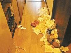 民泊をゴミ屋敷にした中国人女子大生、「台風21号」を持ち出し反論!