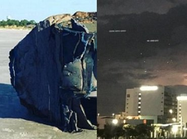 """【衝撃】有名ビーチに3機の葉巻型UFOが出現、米軍が緊急回答の異常事態! 近隣では""""謎素材のUFO残骸""""も発見され…!"""