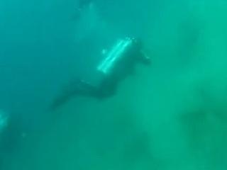 【衝撃映像】ダイビング中にM5.6の地震が起きるとこうなる! 巨大な見えない力でコントロール不能になる瞬間…!