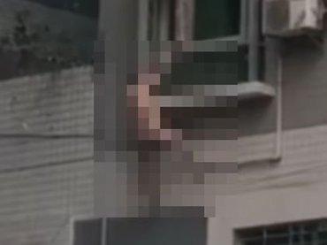 """【閲覧注意】不倫現場から逃げようとした全裸の""""間男""""がビル4階から転落! 昼ドラも真っ青のヤバすぎる修羅場=中国"""