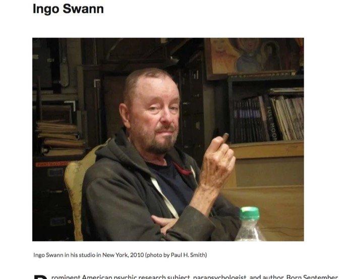 米軍最注目の超能力者インゴ・スワンのヤバみ! 体外離脱で遠隔透視、水星や木星に余裕で到達、20年ガチ実験…の画像1