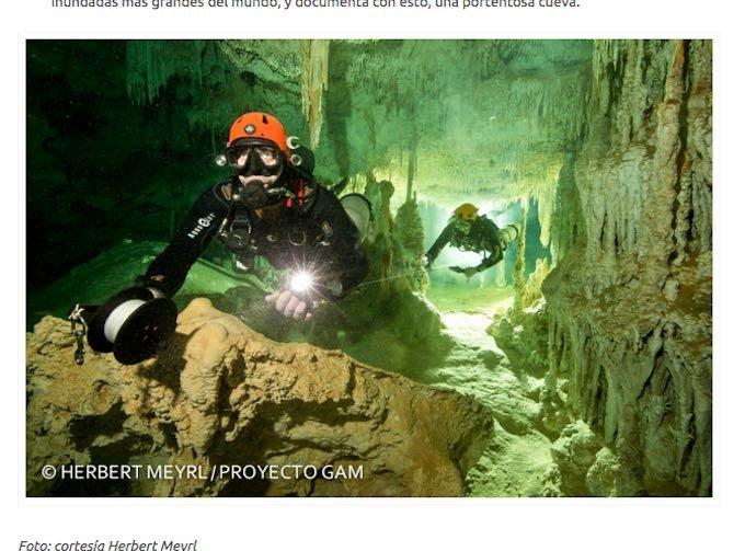メキシコ水中洞窟でマヤの神殿など200以上の遺物が発見される! 1万年前の巨大生物の骨も!の画像1