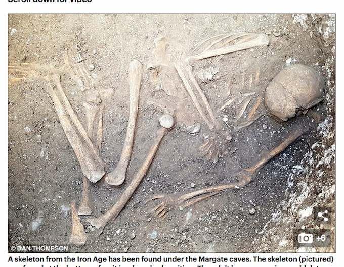 2800年前の封印された地下拷問室で謎の人骨が出土! 性別、死因、屈葬の理由… 何もかも不明で不気味すぎる!=英の画像1