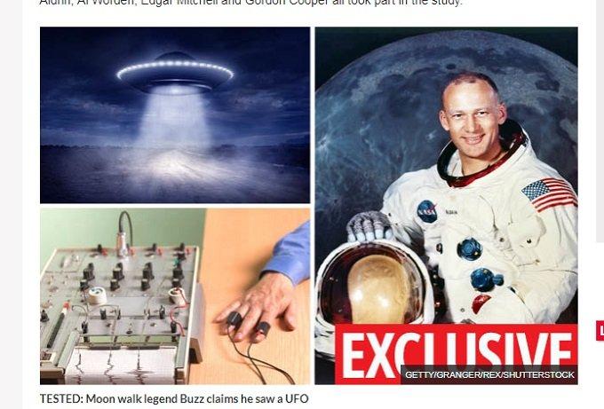 「月でUFOを目撃」発言の宇宙飛行士が嘘発見によるテストをパス! オルドリンら4人の証言解析でUFOの存在が証明される!の画像1