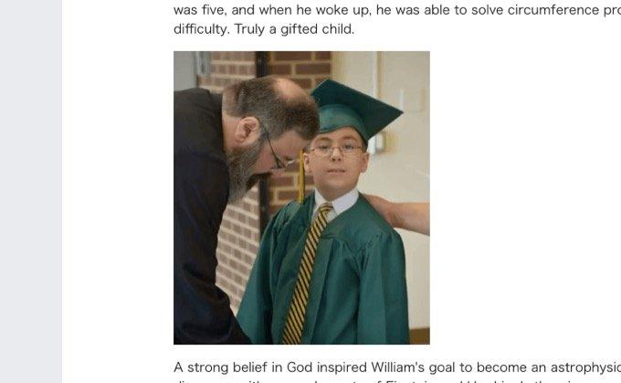 11歳の超天才少年がホーキング博士の間違いを証明すると宣言布告「宇宙は無から誕生していない、何者かがいたはず」の画像1