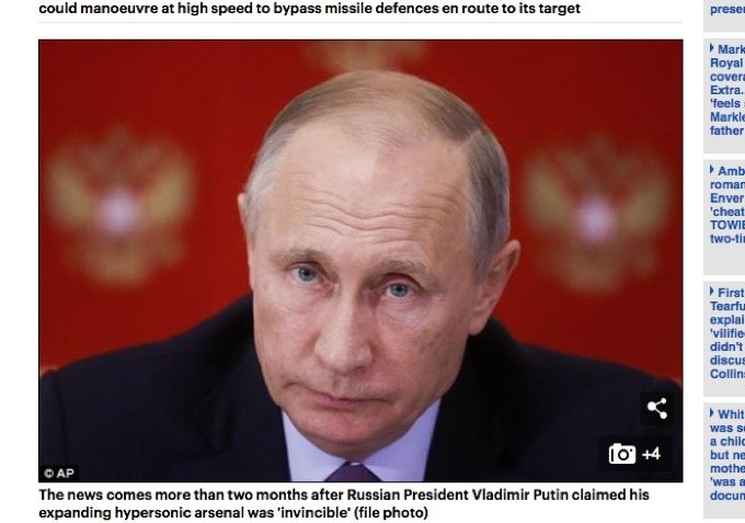 プーチンが2020年の第三次世界大戦に向けて無敵音速兵器「アバンガード」配備へ! 数分で世界滅亡、ヴァンガの予言的中!の画像1