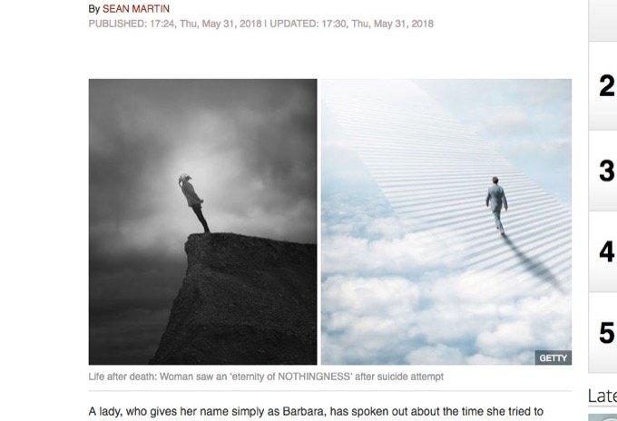 自殺未遂した女性がみた「死後の世界」が普通ではなかった!  2日間意識不明状態でみた驚愕の場所とは?の画像1