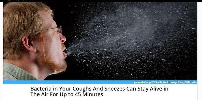 くしゃみの病原菌は最大4mブッ飛び、45分間空中を漂うことが判明! おっさんのノーガードくしゃみは無差別暴力に値する!の画像1